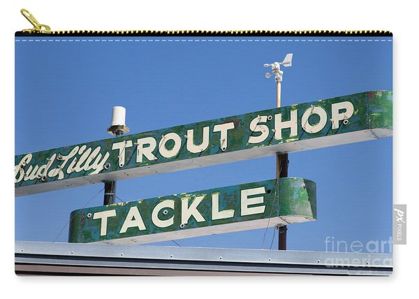Vintage Trout Shop Sign West Yellowstone Carry-all Pouch