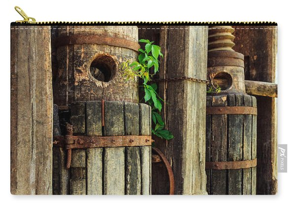 Vintage Wine Press Carry-all Pouch