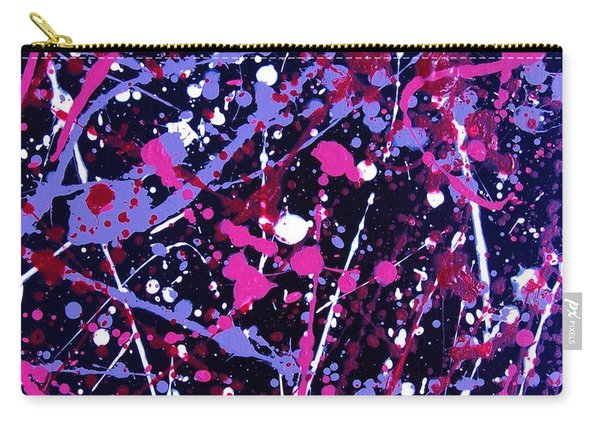 Violet And Pink Paint Splatter I Carry-all Pouch