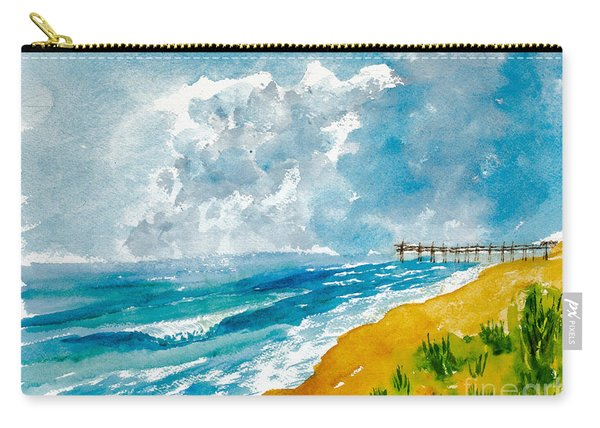 Virginia Beach With Pier Carry-all Pouch