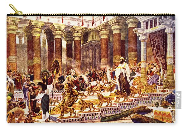 Visit Of Queen Of Sheba To King Solomon Carry-all Pouch