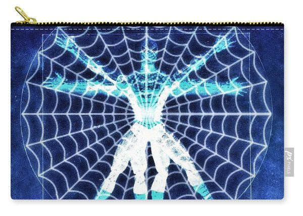 Vitruvian Spiderman White In The Sky Carry-all Pouch