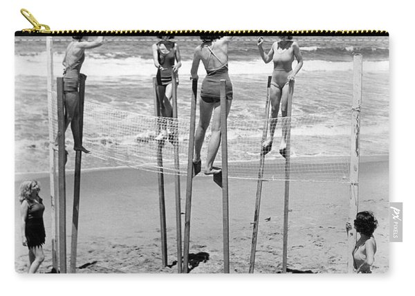 Volleyball On Stilts Carry-all Pouch