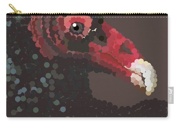 Vulture Pixel Pointillized Carry-all Pouch
