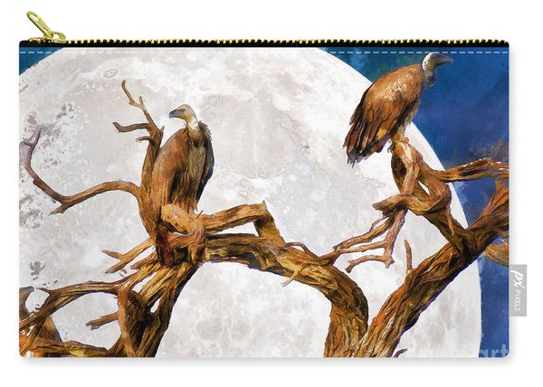 Vultures Of The Full Moon Night 20150212wcstyle Carry-all Pouch