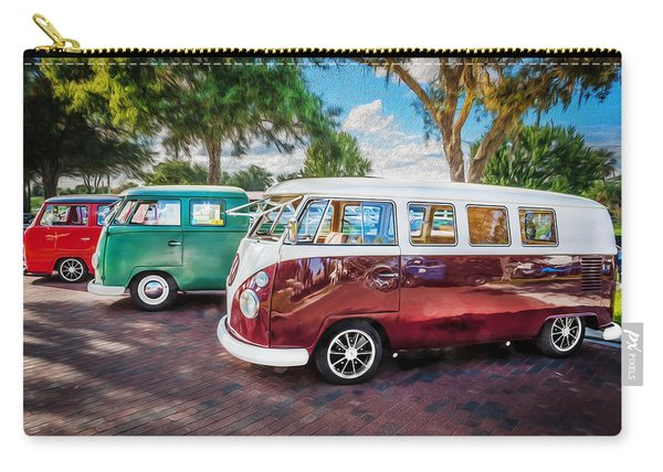 Vw Bus Stop 1964 1961 1968 Vans Trucks Painted Carry-all Pouch