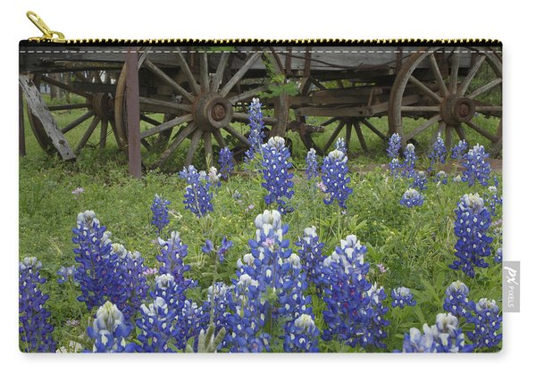 Wagon With Bluebonnets Carry-all Pouch