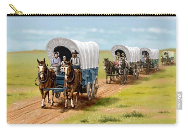Wagons West Establish Grapevine Texas - Wagon Train Carry-all Pouch