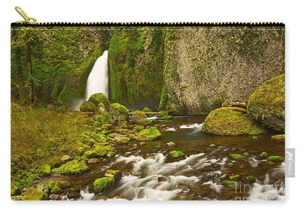 Wahclella Falls In The Columbia River Gorge In Oregon. Carry-all Pouch