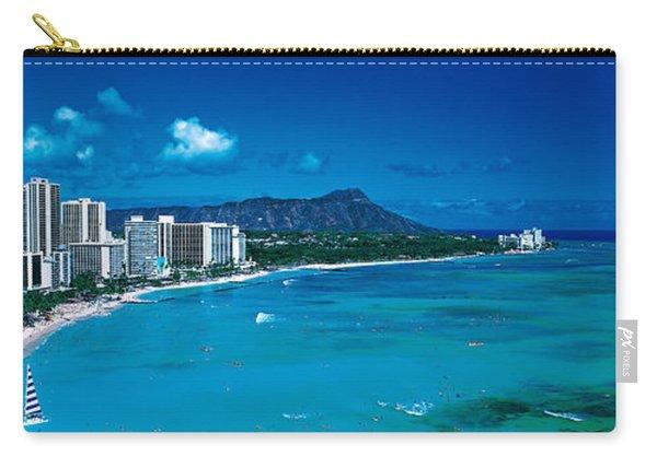 Waikiki Beach Honolulu Oahu Hi Usa Carry-all Pouch