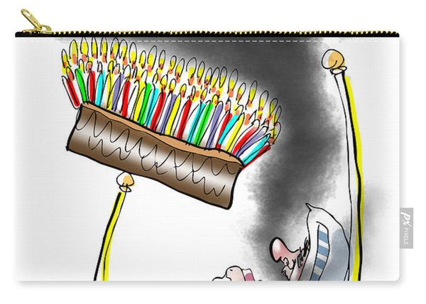 Carry-all Pouch featuring the digital art Smell The Candles by Mark Armstrong