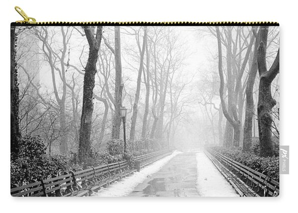 Walkway Snow And Fog Nyc Carry-all Pouch