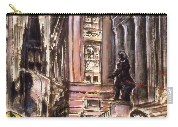New York Wall Street - Fine Art Painting Carry-all Pouch
