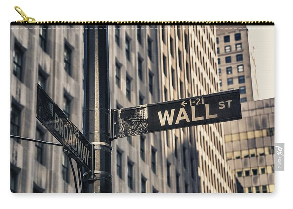 Wall Street Sign Carry-all Pouch