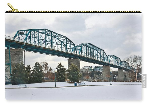 Walnut Street Bridge In The Snow Carry-all Pouch