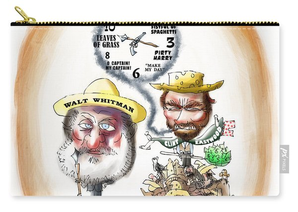 Walt Whitman Meets Clint Eastwood Carry-all Pouch
