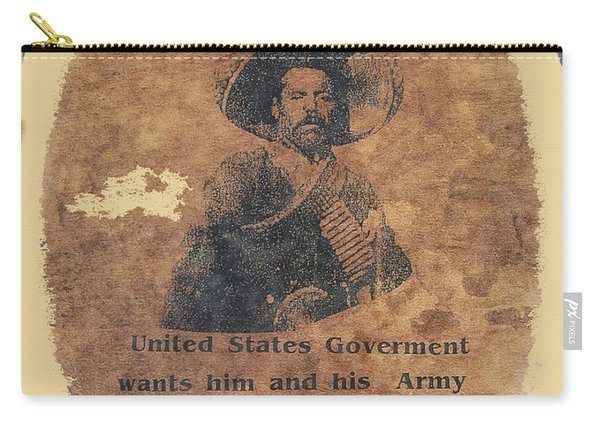 Wanted Poster For Pancho Villa After Columbus New Mexico Raid  Carry-all Pouch