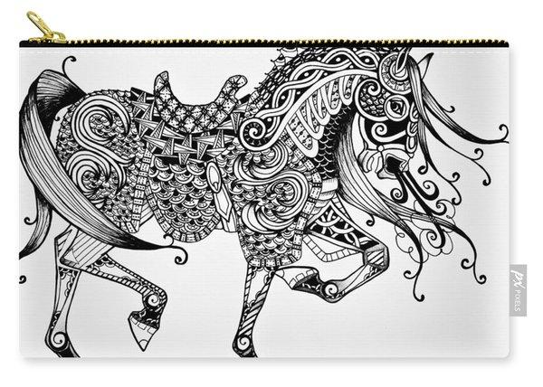 War Horse - Zentangle Carry-all Pouch