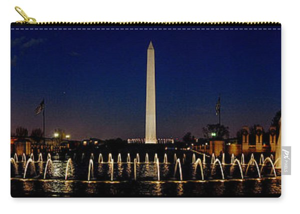 Washington Monument From Wwii Memorial Carry-all Pouch