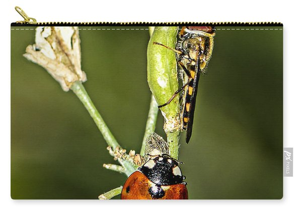 Wasp And Ladybug Carry-all Pouch