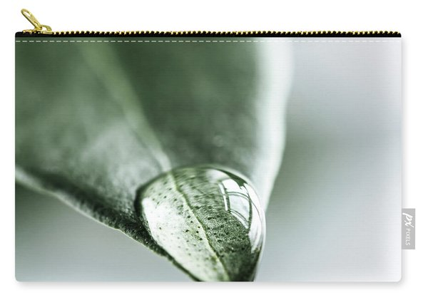 Water Drop On Leaf Carry-all Pouch
