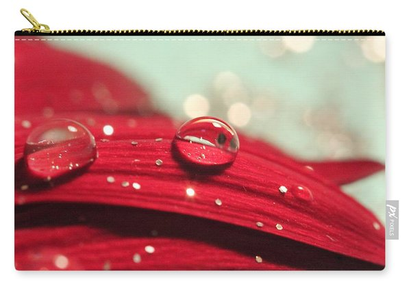 Water Drops And Glitter Carry-all Pouch