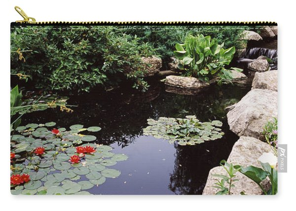 Water Lilies In A Pond, Sunken Garden Carry-all Pouch