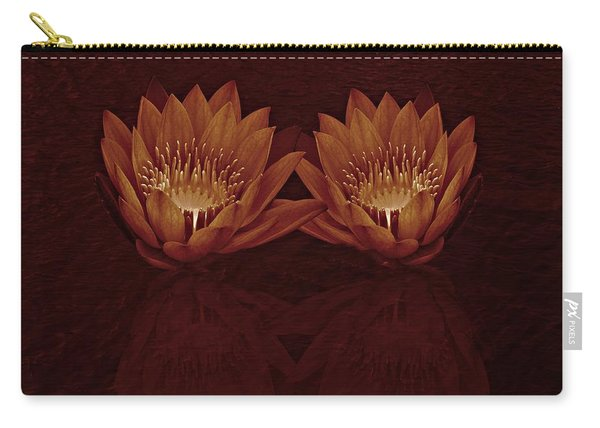 Water Lilies In Deep Sepia Carry-all Pouch