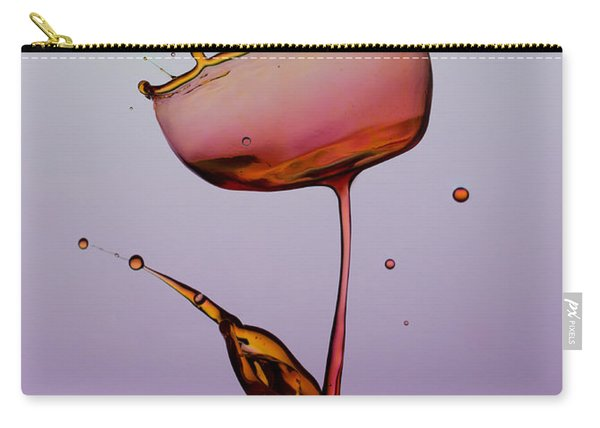 Carry-all Pouch featuring the photograph Water Tulip by Jaroslaw Blaminsky