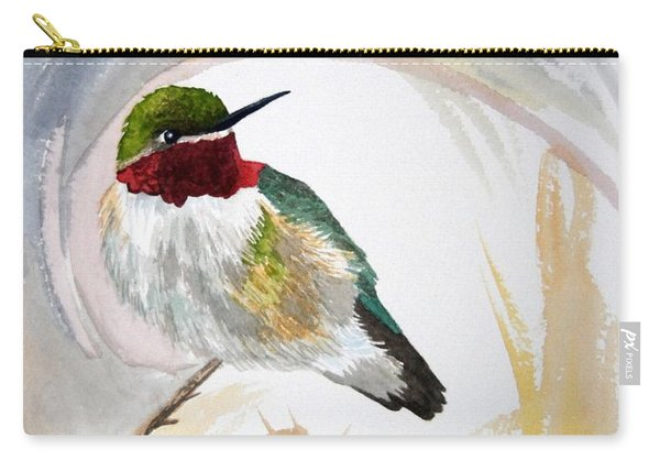 Watercolor - Broad-tailed Hummingbird Carry-all Pouch
