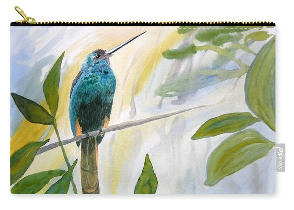 Watercolor - Jacamar In The Rainforest Carry-all Pouch