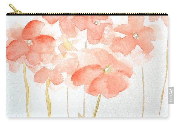 Watercolor Flower Field Carry-all Pouch