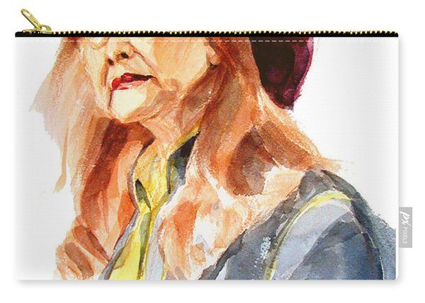 Watercolor Portrait Of An Old Lady Carry-all Pouch