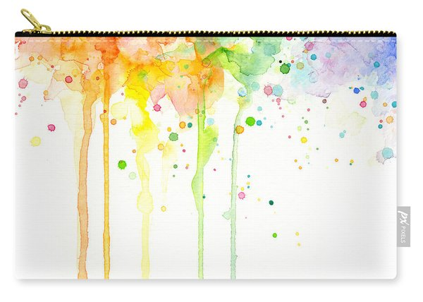 Watercolor Rainbow Carry-all Pouch