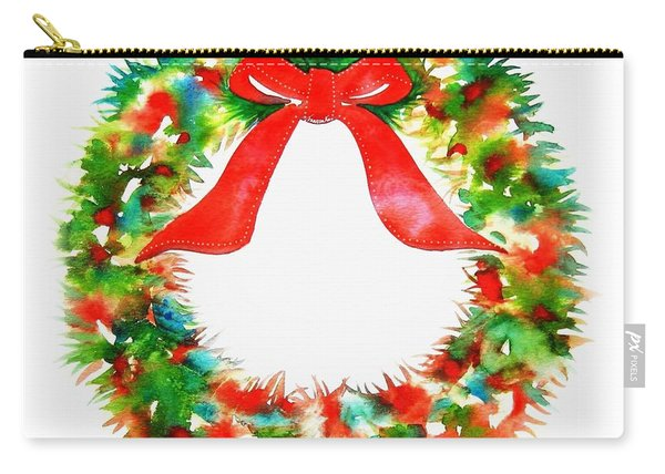 Watercolor Wreath Carry-all Pouch