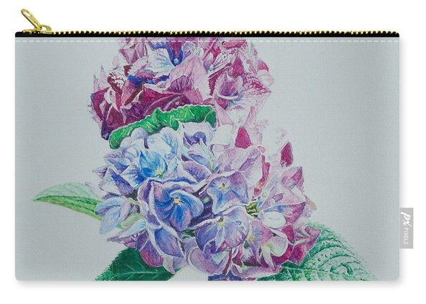 Watercolored Hydrangea Carry-all Pouch