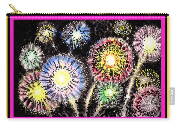 Watercolorful Fireworks Carry-all Pouch