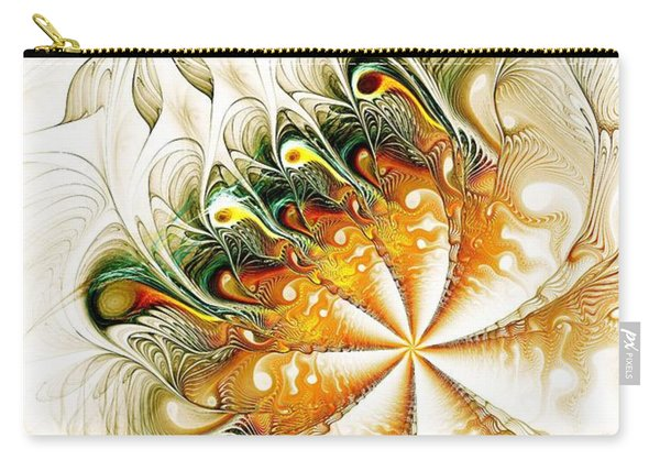 Waves And Pearls Carry-all Pouch