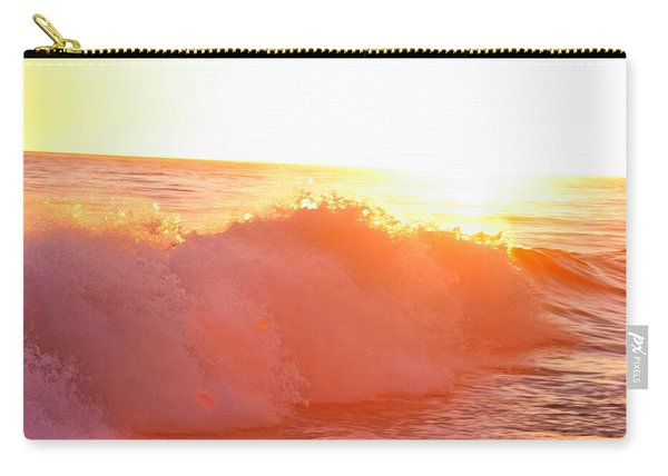 Waves In Sunset Carry-all Pouch
