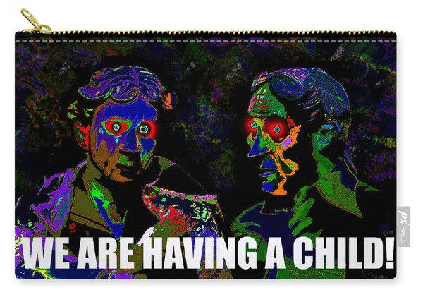 We Are Having A Child Card  Carry-all Pouch