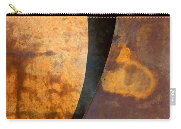 Weathered Bronze Abstract Carry-all Pouch