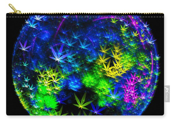 Weed Planet Full Of Cannabis Plants Carry-all Pouch