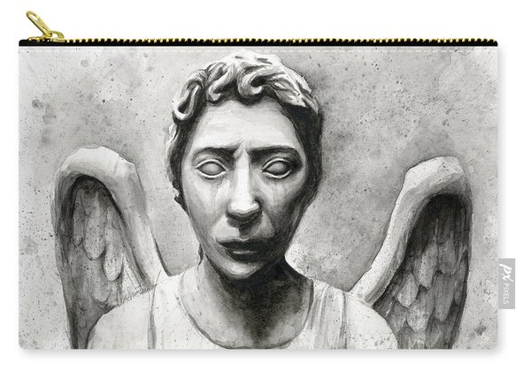 Weeping Angel Don't Blink Doctor Who Fan Art Carry-all Pouch