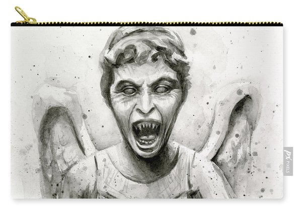Weeping Angel Watercolor - Don't Blink Carry-all Pouch