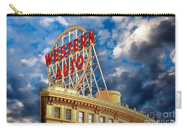 Western Auto Sign Downtown Kansas City Carry-all Pouch