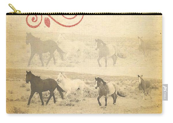 Western Themed Christmas Card Wyoming Spirit Carry-all Pouch