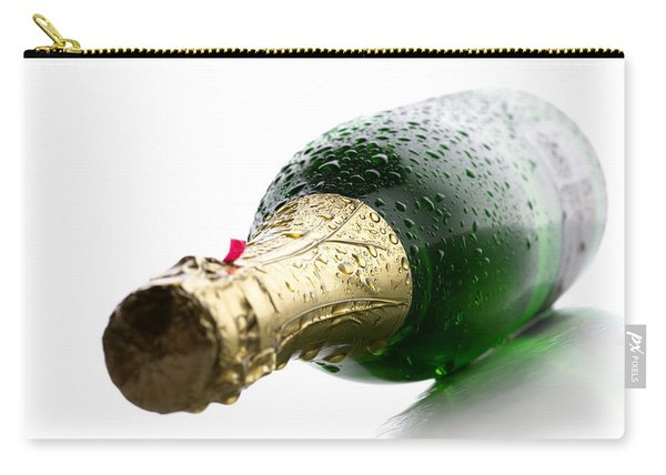 Wet Champagne Bottle Carry-all Pouch
