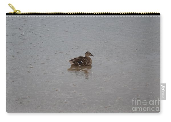 Carry-all Pouch featuring the photograph Wet Duck by Scott Lyons