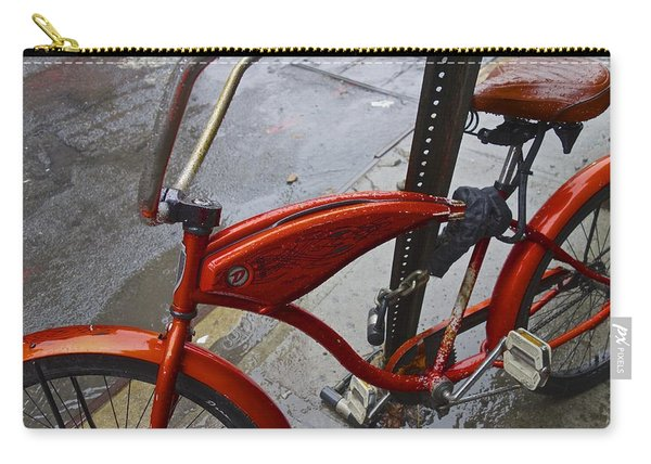 Wet Orange Bike   Nyc Carry-all Pouch