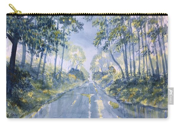 Wet Road In Woldgate Carry-all Pouch